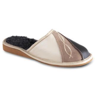 Pantofle damskie z haftem
