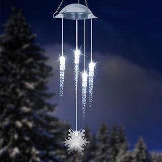 Solarne dzwonki wietrzne z soplami