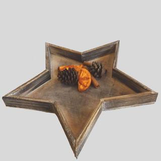 Taca drewniana w kształcie gwiazdy