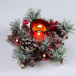 Świąteczny świecznik gwiazda