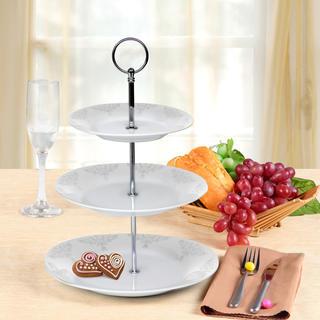Banquet patera na ciasteczka porcelanowa BAROCCO 3 poziomy