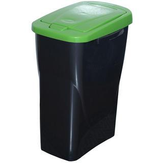Kosz do segregowania śmieci zielona pokrywa 25 l