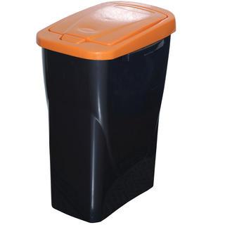Kosz do segregowania śmieci pomarańczowa pokrywa 25 l