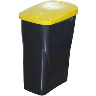 Kosz do segregowania śmieci żółta pokrywa 25 l