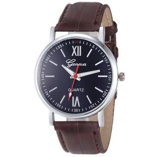 Męski zegarek Genewa brązowy