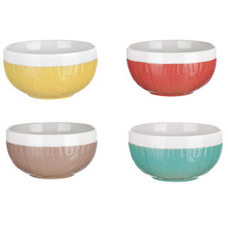 Zestaw 4 sztuk misek ceramicznych SWEATER