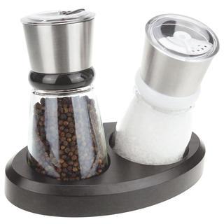 Młynek do soli i pieprzu w stojaku