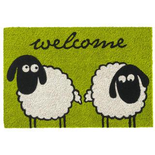 Wycieraczka z włókna kokosowego RUCO PRINT Sheeps Welcome