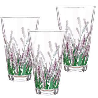 Zestaw 3 szt. szklanek Lavender
