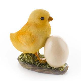 Dekoracja ogrodowa - kurczątko z jajkiem