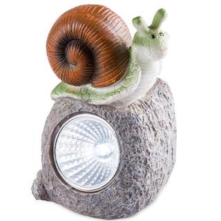 Dekoracja ogrodowa solarna - ślimak