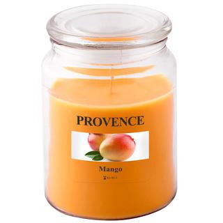 Świeczka w szkle z wieczkiem, mango