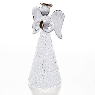 Szklany aniołek 12 cm