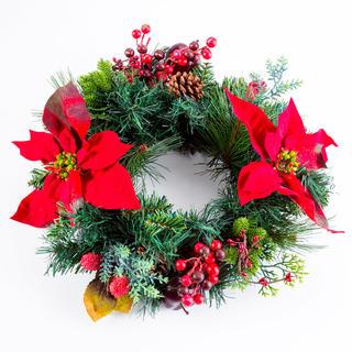 Sztuczny świąteczny wieniec JABŁUSZKO 40 cm