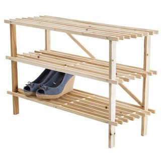 Drewniana półka na obuwie 3 poziomy