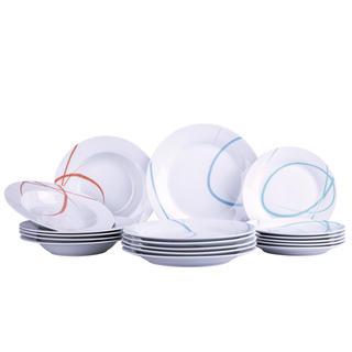 Banquet porcelanowy zestaw talerzy PASTEL 18 szt.