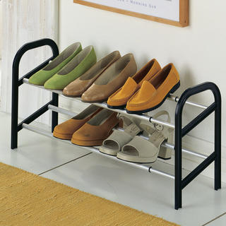Regulowany aluminiowy stojak na buty, na 12 par