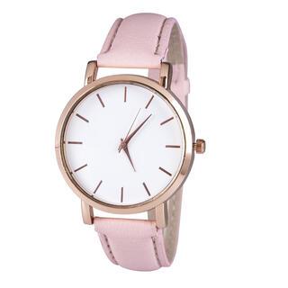Zegarek damski z różowym paskiem
