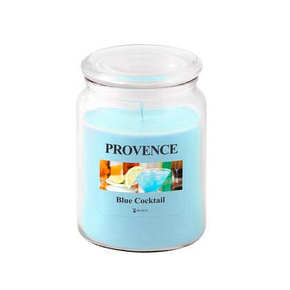 Świeca w szkle z wieczkiem BLUE COCKTAIL