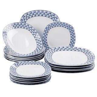 Banquet Zestaw porcelanowych talerzy square LOUNGE 18 szt.