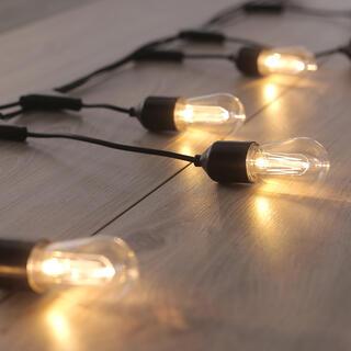 Łańcuch świetlny z 10 podłużnymi żarówkami LED 8 m