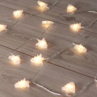 Łańcuch świetlny z 20 choinkami LED 2,4 m