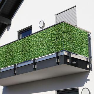 Osłona balkonowa ZIELONE LIŚCIE 85 x 500 cm