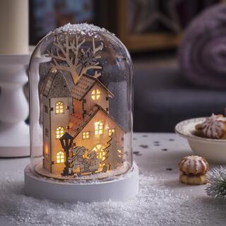 Świecący domek - śnieżna kula