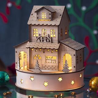 Grający domek ze światełkami
