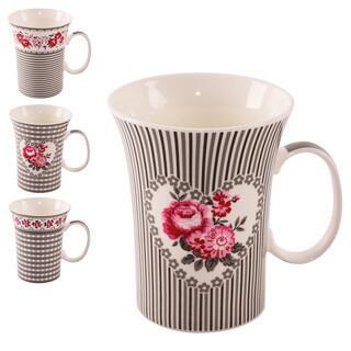 Kubki porcelanowe ROSE 360 ml 4 szt.