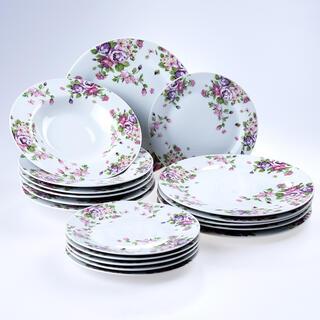 Porcelanowy zestaw talerzy BEAUTY 18 szt.
