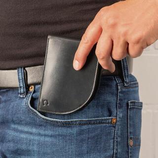 Portfel męski do przedniej kieszeni