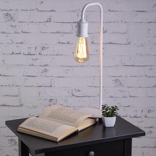 Lampa stołowa VINTAGE metalowa, biała