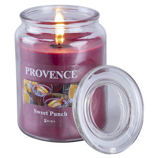 Świeca zapachowa w szkle z pokrywką SŁODKI PONCZ
