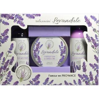 Kosmetyki w opakowaniu prezentowym z olejkiem lawendowym BT Premium