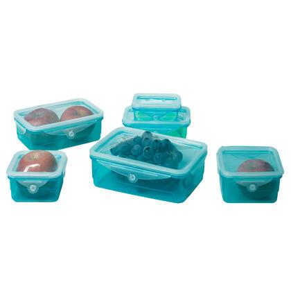 Zestaw 6 pojemników na żywność z elastyczną pokrywką