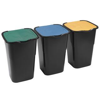 Pojemnik do segregacji śmieci, zestaw 3 szt.