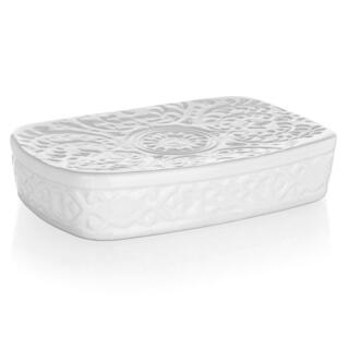 Mydelniczka ceramiczna biała