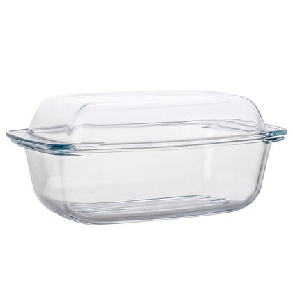 Szklana brytfanna z pokrywą CLASSIC kwadratowa