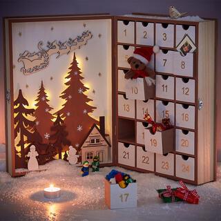 Duży kalendarz adwentowy szufladki