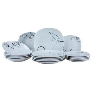 Porcelanowy zestaw obiadowy CHANSON 18 części