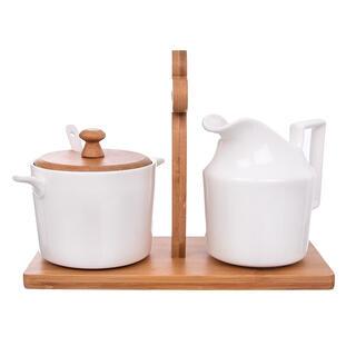 Cukierniczka z mlecznikiem na stojaku BAMBUS