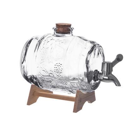 Beczka szklana na stojaku z kranikiem 1 l
