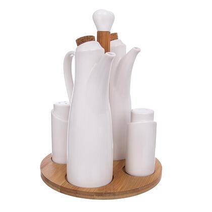 Porcelanowy zestaw na przyprawy BAMBU 4+1