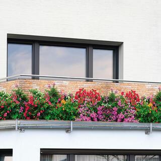 Osłona balkonowa KWIATY