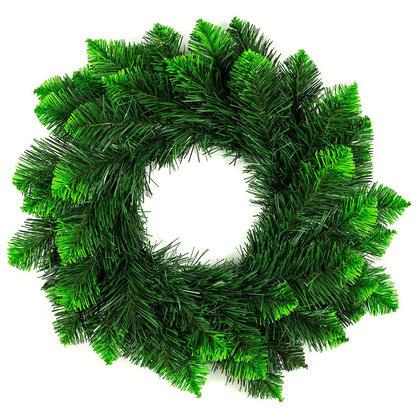 Sztuczny świąteczny wieniec, zielone końcówki, śr. 50 cm