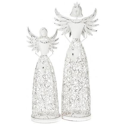 Świecznik anioł z sercem biały