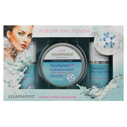 Kosmetyczne opakowanie upominkowe z kwasem hialuronowym i mleczkiem ujędrniającym