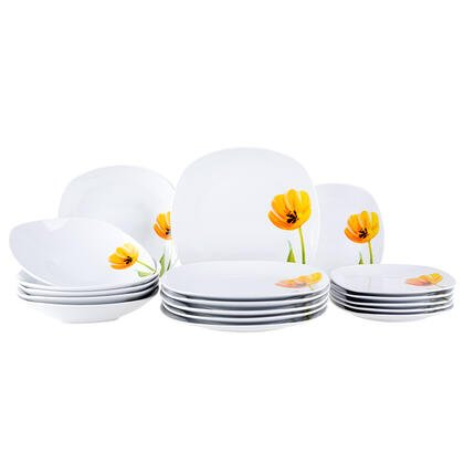 Porcelanowy zestaw obiadowy TULIP 18 szt.