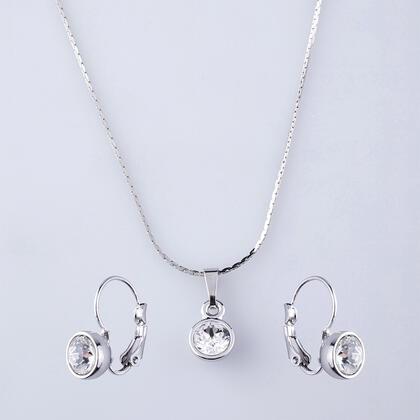 Zestaw naszyjnik i kolczyki KLASIK z kryształami Swarovski